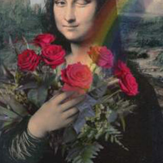 "Portraits-digital: ""Mona Lisa mit Rosen"""