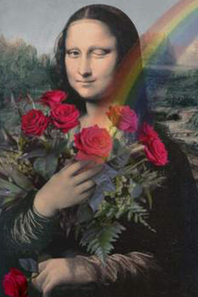 Mona Lisa mit Rosen