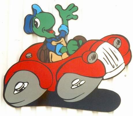 Schildkröte im Auto