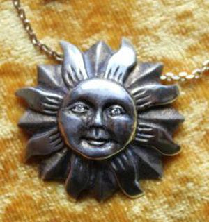 Schmuck: Sonne Silber/vergoldet