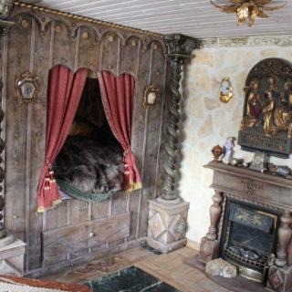 Raumgestaltung: Schlafzimmer im Stil des Mittelalters
