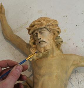 Jesus waerend der Restauration