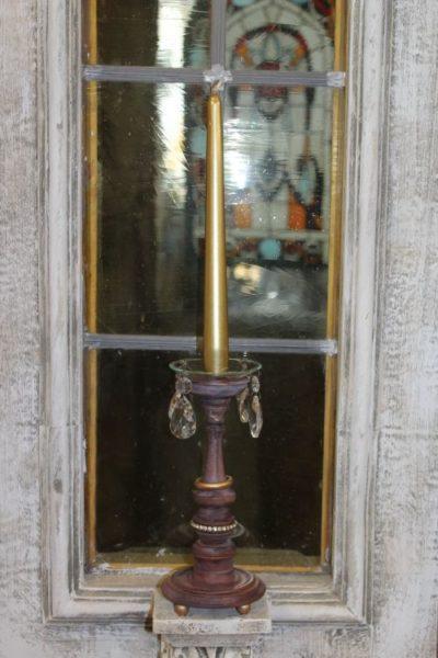 Kerzenständer gedrechselt
