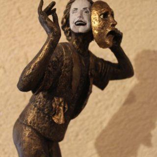 "Sonstige-skulpturen: ""Pantomime aus Pappmaché"""