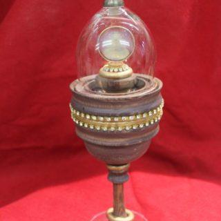 Drechselarbeiten: Pokal mit Glaskuppel