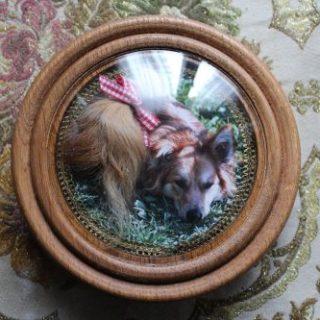 Drechselarbeiten: Reliquie mit Hundehaare