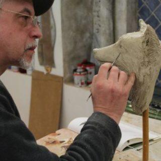 """Tierskulpturen: Skulptur """"Fuchskopf"""""""
