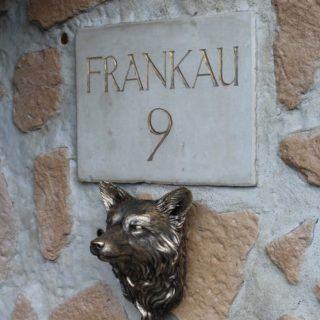 Fuchskopf in Bronze