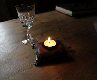 Teelicht mit Kerze