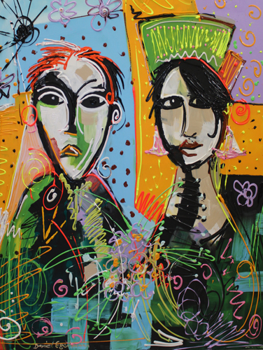 lovers Gemaelde in Acryl