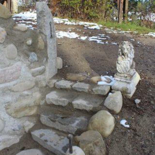 Ruinenwand mit Treppe