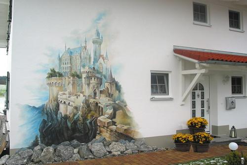König Ludwig II Hausbemalung