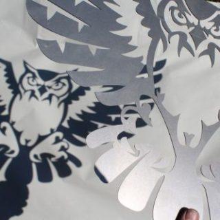Spezielles: Vögel aus Metall gelasert