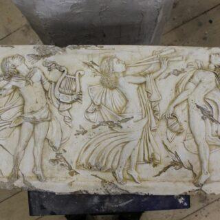 """Sonstige-skulpturen: Relief """"Musiker"""""""